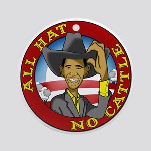 All Hat No Cattle Ornament (Round)