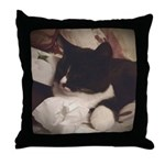 Tuxedo Cat (Sympathy) Throw Pillow