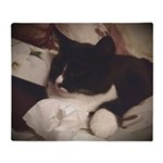 Tuxedo Cat (Sympathy) Throw Blanket