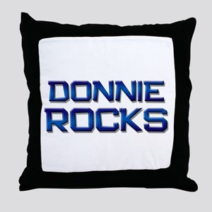 donnie rocks Throw Pillow