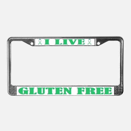 I Live Gluten Free License Plate Frame