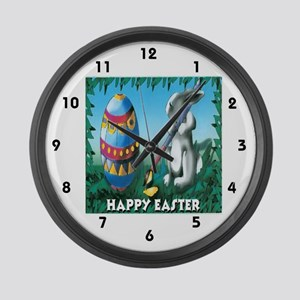 Easter Bunny Large Wall Clock