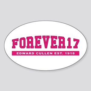 Edward - Forever 17 Oval Sticker