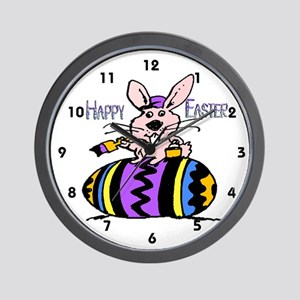 Easter Bunny & Egg Wall Clock