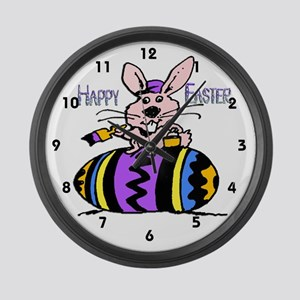 Easter Bunny & Egg Large Wall Clock