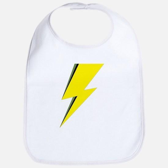 Lightning Bolt logo Baby Bib