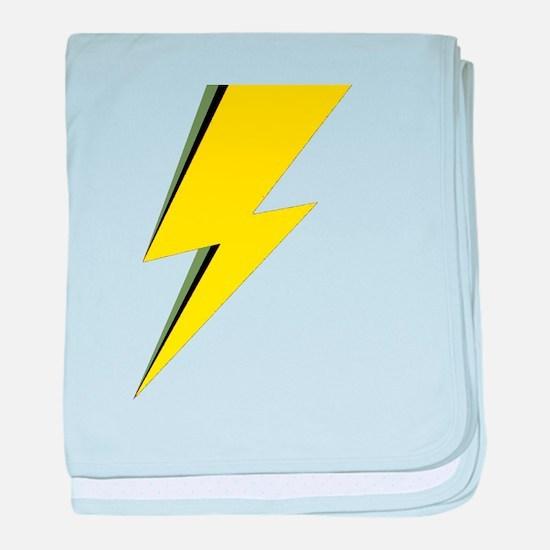 Lightning Bolt logo baby blanket
