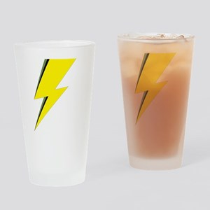 Lightning Bolt logo Drinking Glass