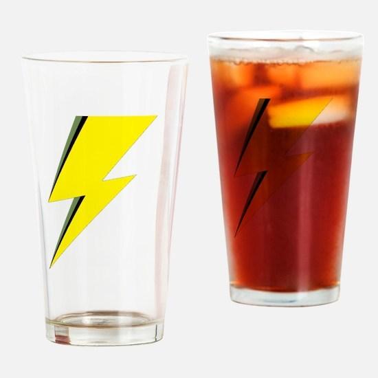 Lightning Bolt logo Drinking Glass