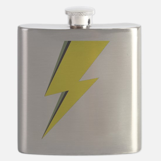 Lightning Bolt logo Flask