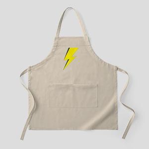Lightning Bolt logo Light Apron