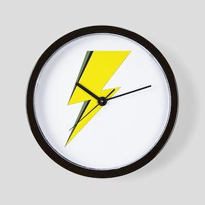 Lightning Bolt logo Wall Clock