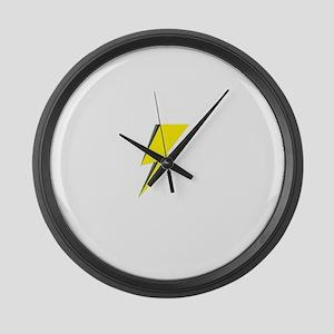 Lightning Bolt logo Large Wall Clock
