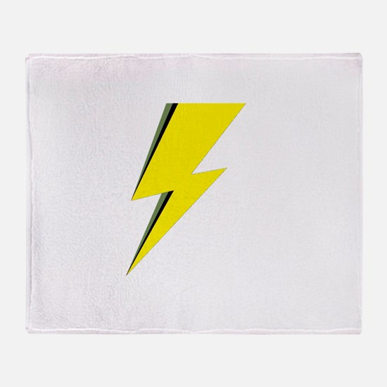 Lightning Bolt logo Throw Blanket