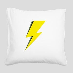 Lightning Bolt logo Square Canvas Pillow