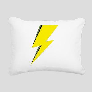 Lightning Bolt logo Rectangular Canvas Pillow