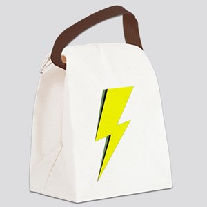 Lightning Bolt logo Canvas Lunch Bag