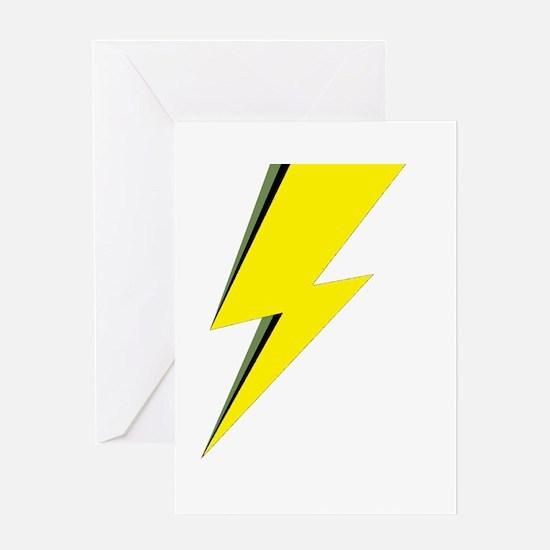 Lightning Bolt logo Greeting Cards