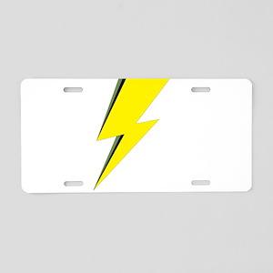 Lightning Bolt logo Aluminum License Plate