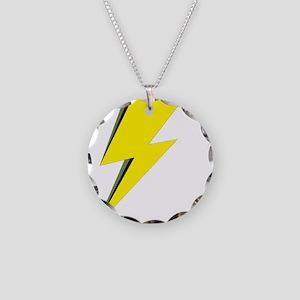 Lightning Bolt logo Necklace Circle Charm