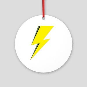 Lightning Bolt logo Round Ornament