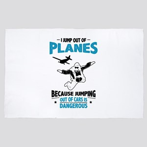 I Jump from Planes - Jumping from Cars 4' x 6' Rug