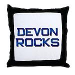 devon rocks Throw Pillow