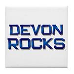 devon rocks Tile Coaster