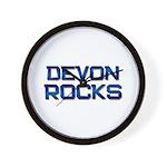 devon rocks Wall Clock