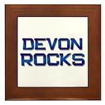 devon rocks Framed Tile