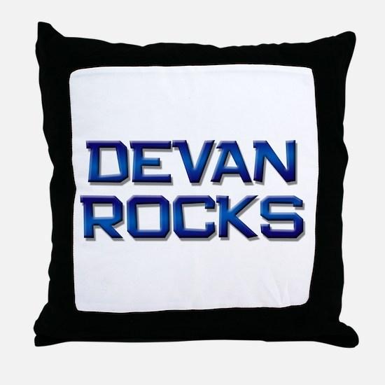 devan rocks Throw Pillow