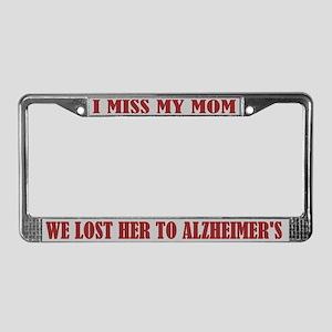 Alzheimer's Mom License Plate Frame