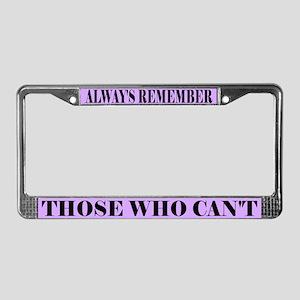 Alzheimer's Remember License Plate Frame