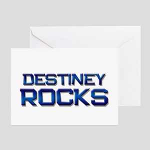 destiney rocks Greeting Card