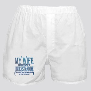 My wife doesn't understand me Boxer Shorts