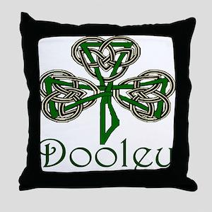 Dooley Shamrock Throw Pillow