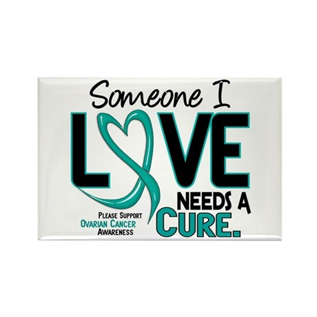 Needs A Cure 2 OVARIAN CANCER Rectangle Magnet