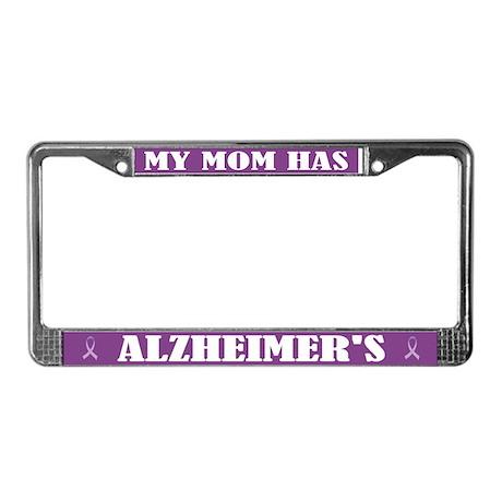 Mom Has Alzheimer's License Plate Frame