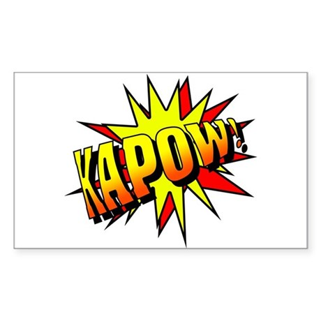 Kapow! Rectangle Sticker