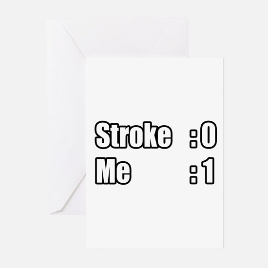 """""""I Beat My Stroke"""" Greeting Cards (Pk of 20)"""