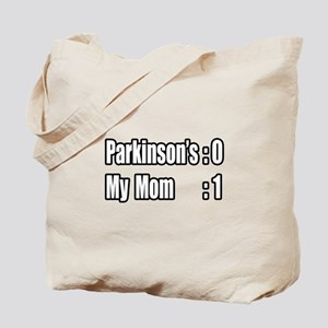 """Mom is Beating Parkinson's"" Tote Bag"