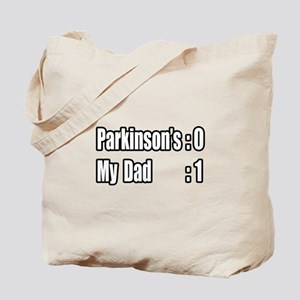 """Dad is Beating Parkinson's"" Tote Bag"