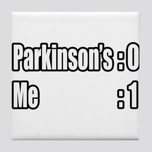 """I'm Beating Parkinson's"" Tile Coaster"