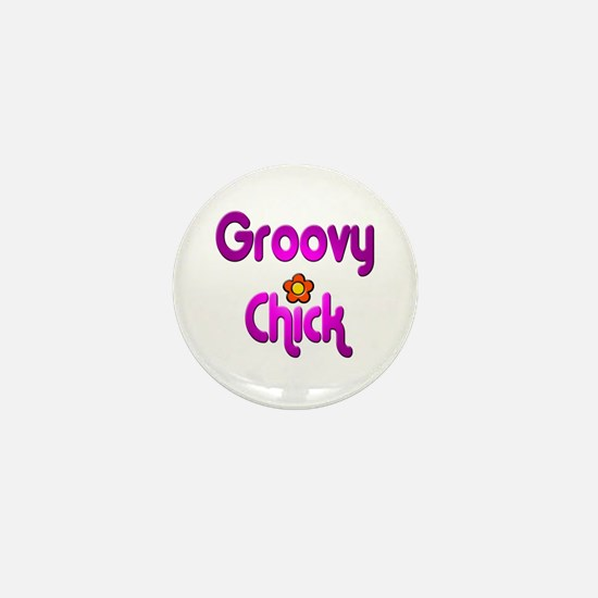 Groovy Chick Mini Button