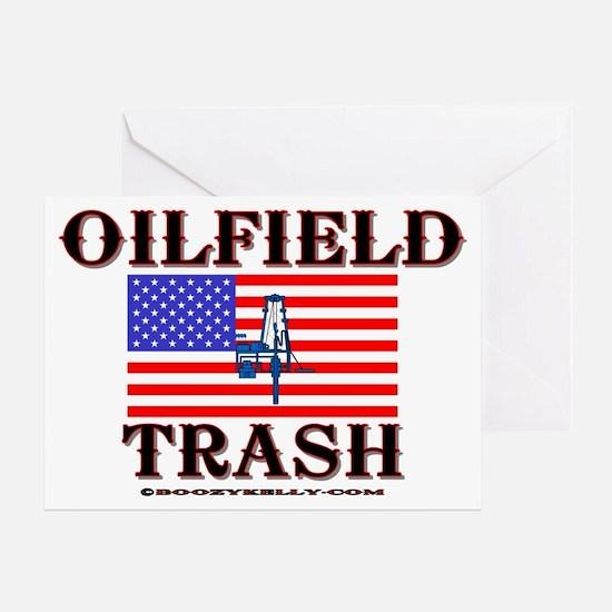 American Oilfield Trash Greeting Card, Oilpatch