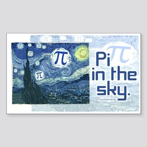 Pi in the Sky Rectangle Sticker
