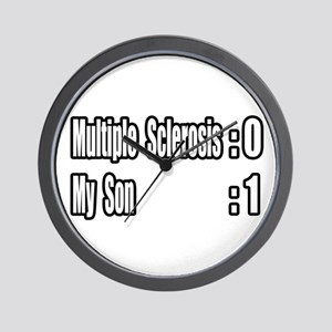 """My Son Battles MS"" Wall Clock"