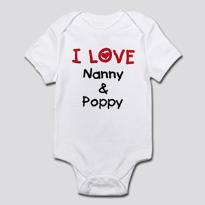 I Love Nanny and Poppy Infant Bodysuit