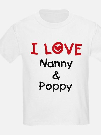 I Love Nanny and Poppy T-Shirt