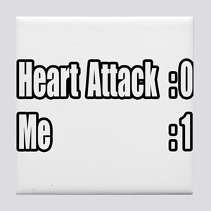 """Heart Attack Survivor"" Tile Coaster"